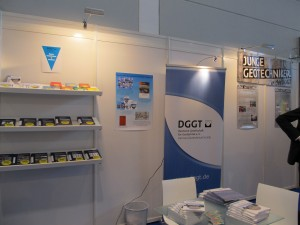 Informationsstand der DGGT und der Jungen Geotechniker in der DGGT (Quelle: D. Busch, DGGT)
